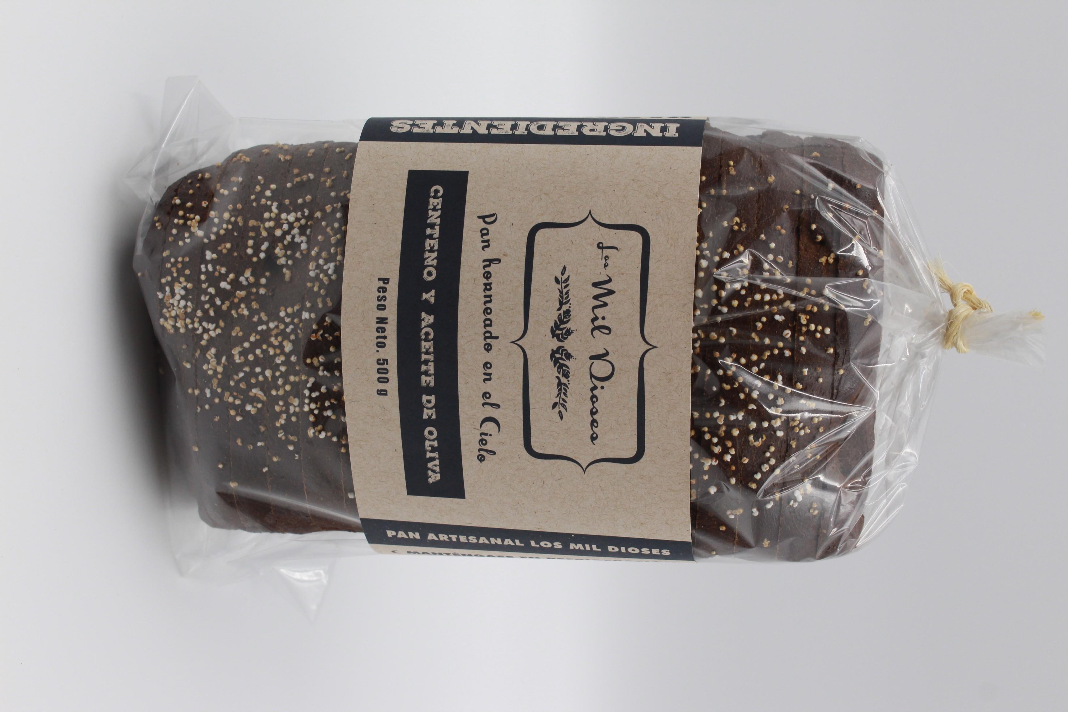 Pan de caja de centeno y aceite de oliva (1 pieza)