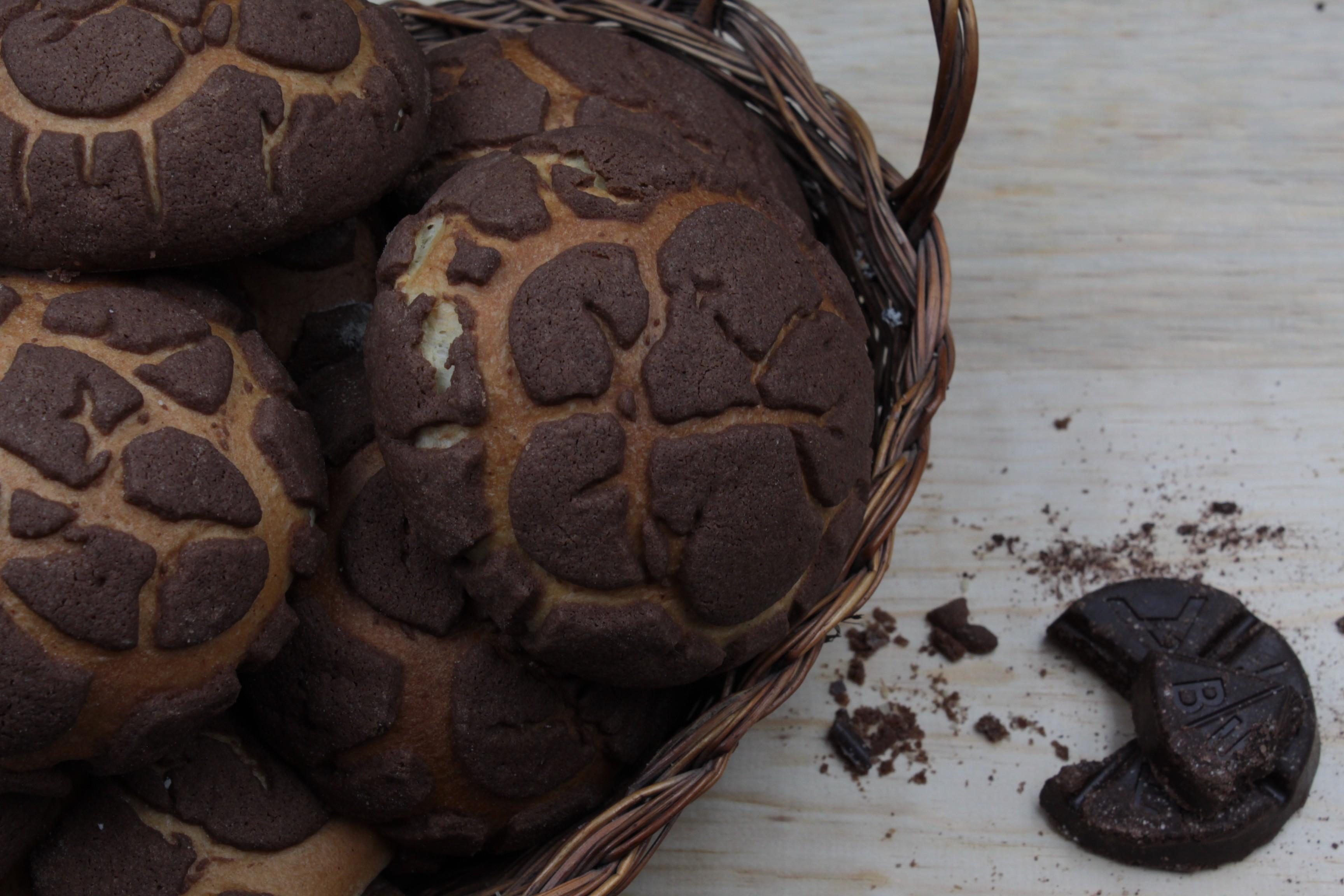 Conchas veganas de chocolate abuelita (paquete con 2 piezas)