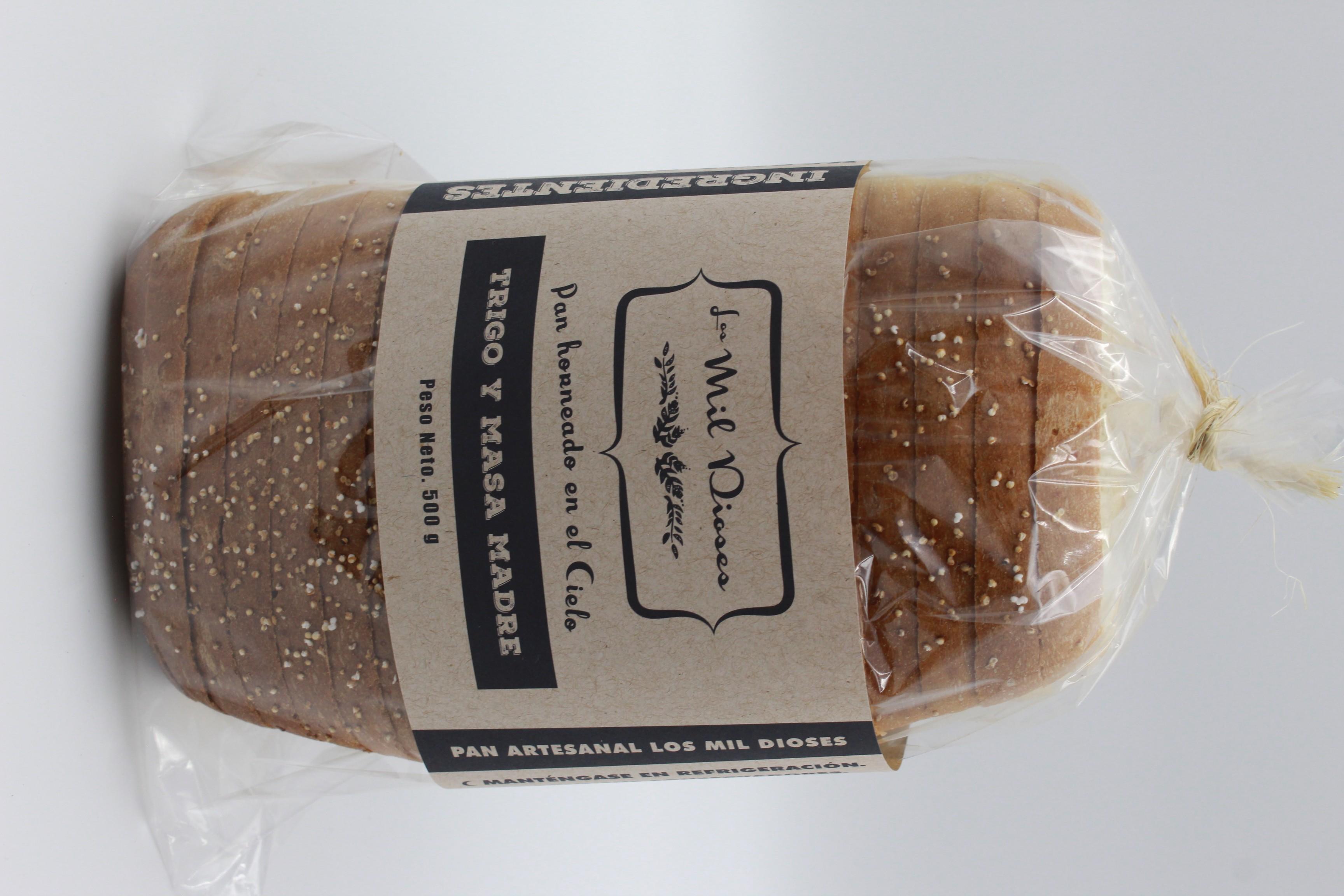 Pan de caja de trigo y masa madre (1 pieza)