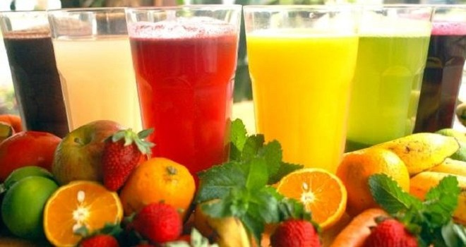 Vaso de agua de frutas